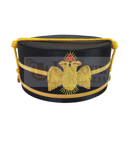 Scottish Rite A.A.S.R. 32nd Degree Double Headed Eagle Cap-Crown Hand Embroidery MD033