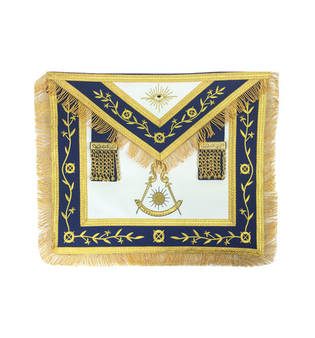 Masonic Blue Lodge Past Master Gold Machine Embroidery Apron - kitchcutlery  - 1
