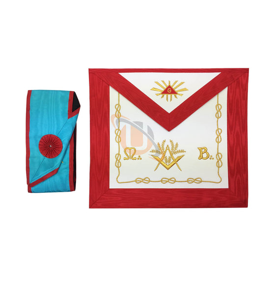 Masonic Blue Lodge worshipful Master Mason Apron and sash set - kitchcutlery  - 1