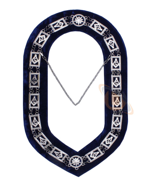 MASONIC BLUE LODGE CHAIN COLLAR SILVER - kitchcutlery