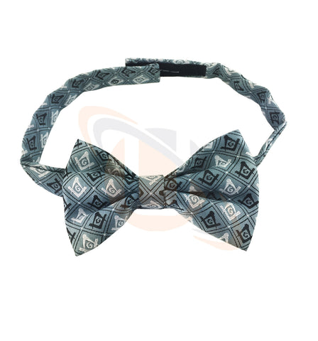 Masonic 100% Silk Woven Craft Bow Tie with Square Compass & G Green - kitchcutlery  - 1