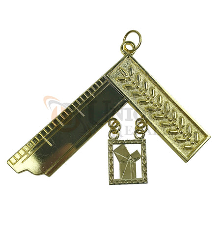 Masonic Craft Lodge Officer Past Master Collar Jewel gold