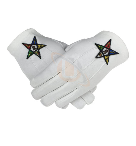 Masonic OES Order of the Eastern Star 100% Cotton Glove - kitchcutlery  - 1