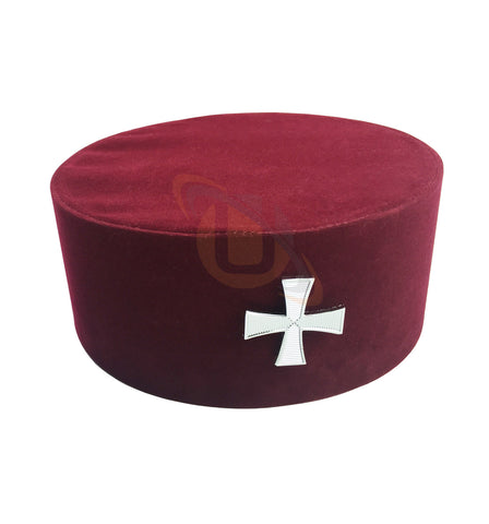 Masonic Knight Templar KT Cap/Hat with Red Cross - kitchcutlery  - 1