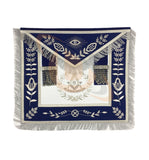 Masonic Blue Lodge Past Master Silver Handmade Embroidery Apron - kitchcutlery  - 1
