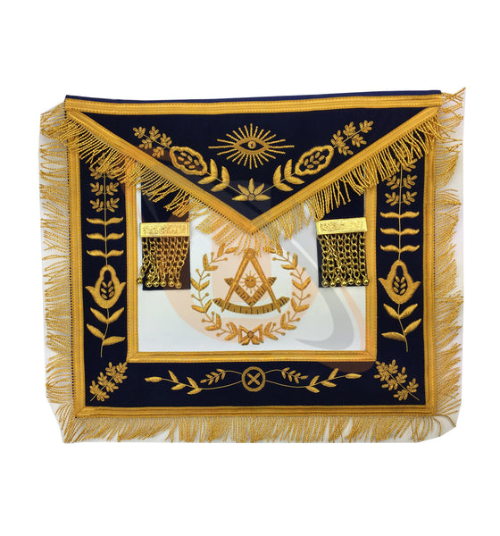 Copy of Masonic Blue Lodge Past Master Gold Handmade Embroidery Apron - kitchcutlery  - 1