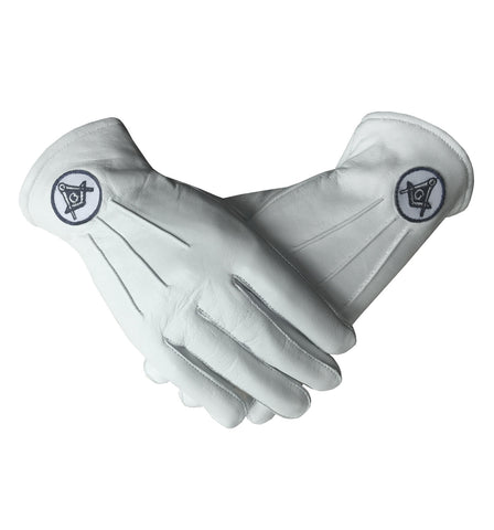Soft Leather Masonic Gloves with Embroidery - kitchcutlery  - 1