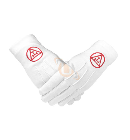 Masonic Royal Arch 100% Cotton Gloves with Machine Embroidery - kitchcutlery