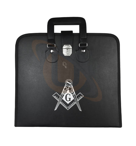 NEW Masonic Regalia Apron Case with Printed Square Compass & G - kitchcutlery  - 1