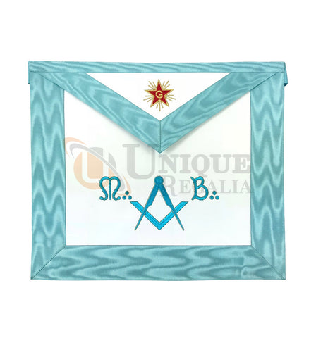 Master Mason Groussier French Rite Square Compass MB Apron