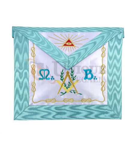 Master Mason Groussier French Rite Square and compass Acacia MB Apron