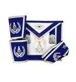 Masonic Blue Lodge Master Mason Apron Set Apron,Collar gauntlets (Cuffs) - kitchcutlery  - 1