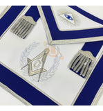 Masonic Blue Lodge Master Mason Apron Set Apron,Collar gauntlets (Cuffs) - kitchcutlery  - 2
