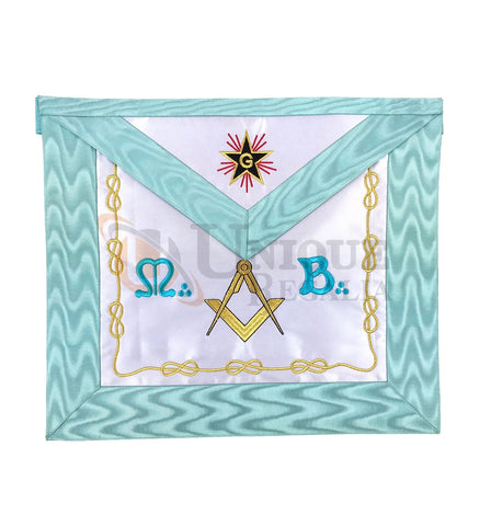 Master Mason Groussier French Rite Square and compass MB Apron