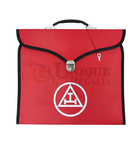 Masonic Royal Arch Apron Printed Logo Case (Red)