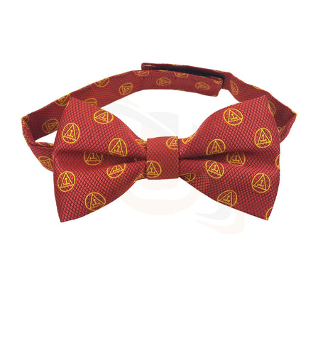 Masonic Royal Arch RA Bow Tie with Taus Red and Yellow