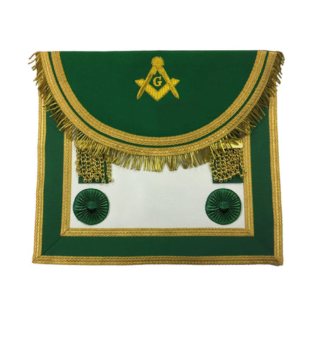Scottish Master Mason Handmade Embroidery Apron