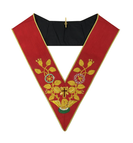 Scottish Rite Rose Croix 18th Degree Collar Red
