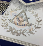 Masonic Blue Lodge Past Master Silver Handmade Embroidery Apron - kitchcutlery  - 2