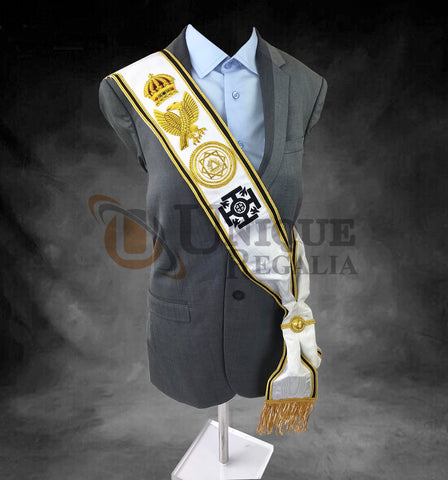 Superior Quality Red Cross of Constantine Grand sash RCC Sash Hand Embroided