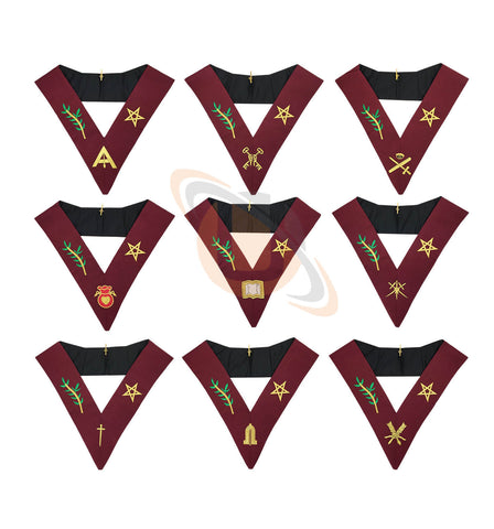 Masonic Blue Lodge 14th Degree Collars- Set of 9 collar - kitchcutlery  - 1