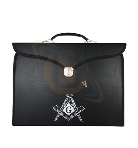 New Masonic MM/WM Apron + Chain Collar Case with Printed Square Compass & G - kitchcutlery  - 1