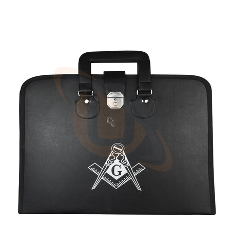 New Masonic Regalia MM/WM Apron+Chain Collar Case with Printed Square Compass & G - kitchcutlery  - 1