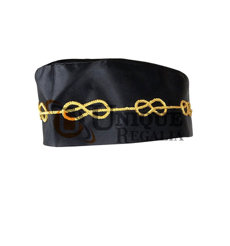 Masonic Master Mason Black Hat with Braid