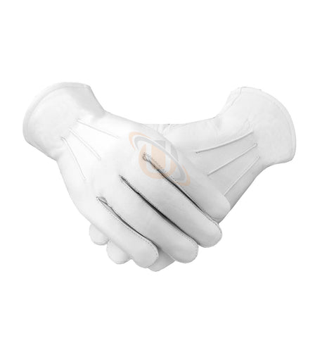 Masonic Soft Leather Gloves Plain - kitchcutlery  - 1