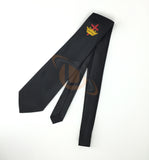 Masonic Knight Templar Black Silk Tie with embroided Logo - kitchcutlery  - 2