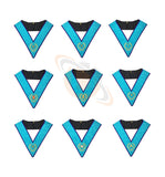 Masonic MEMPHIS MISRAIM OFFICER COLLARS Machine Embroidery Set - Set of 9 Collar - kitchcutlery  - 1
