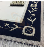 Masonic Blue Lodge Past Master Silver Handmade embroidery Apron - kitchcutlery  - 3