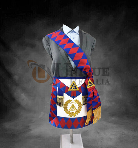 High Quality Royal Arch Supreme Grand Chapter Apron & Sash Set