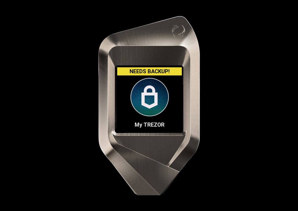 corazon trezor model t back up procedure
