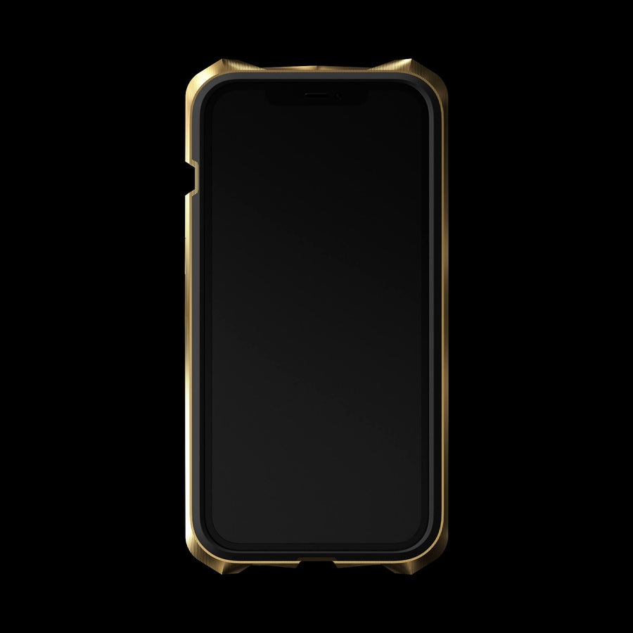 advent gold luxury titanium metal iPhone 12 pro case