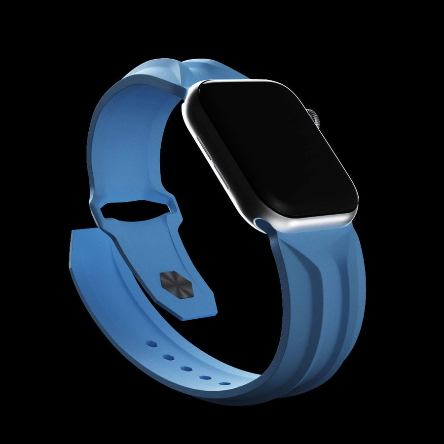 cyber band blue apple watch 44mm