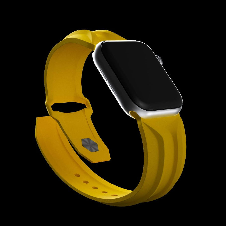 cyber band yellow apple watch band 44mm