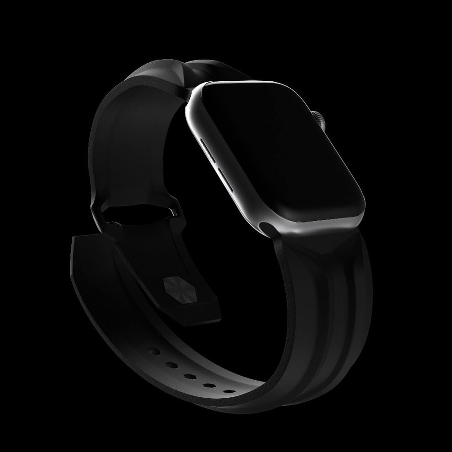 black cyber band luxury designer apple watch band