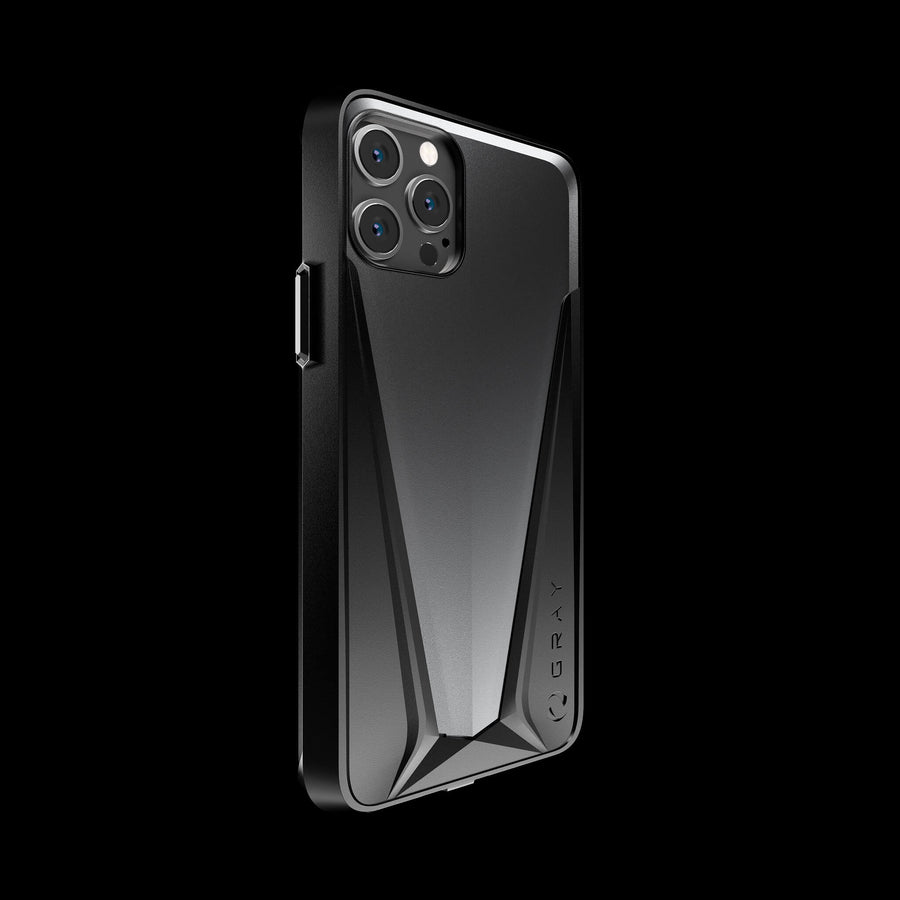morpheus gray aluminium luxury iPhone 12 pro case