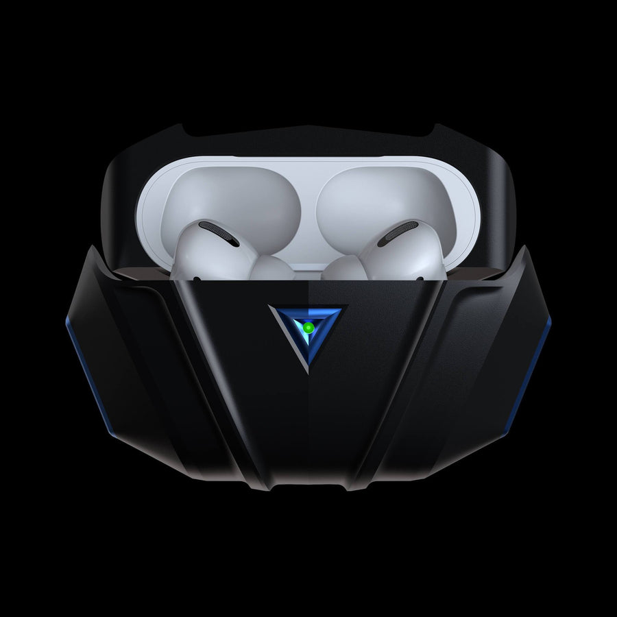 raptor blue luxury aluminium metal airpods pro case
