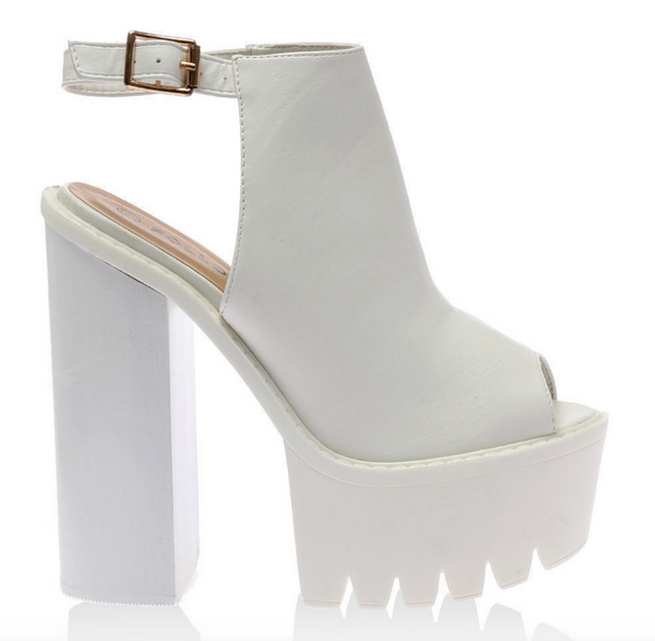 SLING IT // WHITE PLATFORMS - Studio LBW