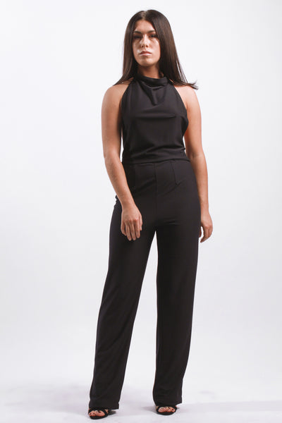 V BACKLESS JUMPSUIT
