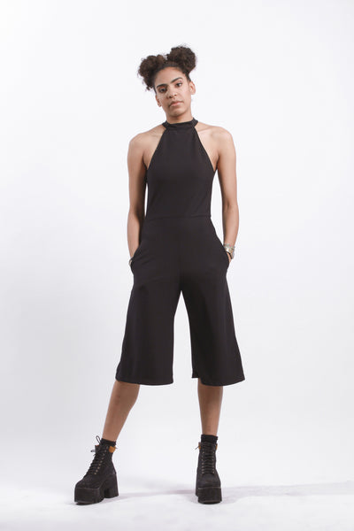 SPLIT BACK SHORT JUMPSUIT