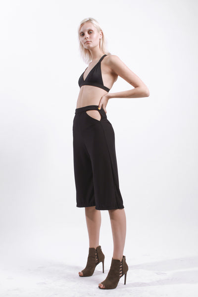 BLACK CUT OUT CULOTTES
