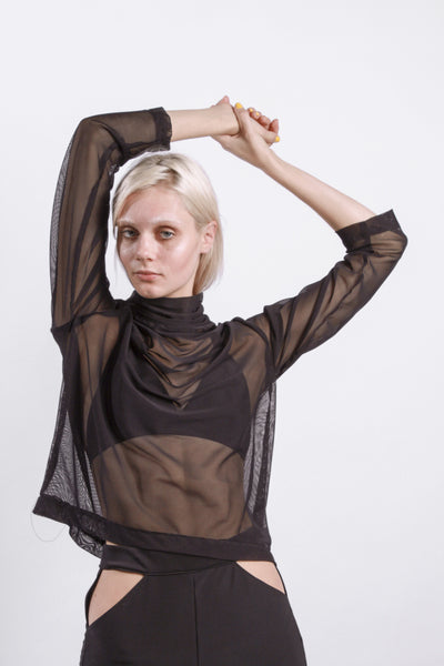 OVERSIZED DROP ARM JUMPER // MESH