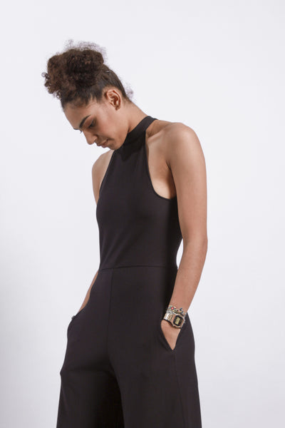SPLIT BACK LONG JUMPSUIT