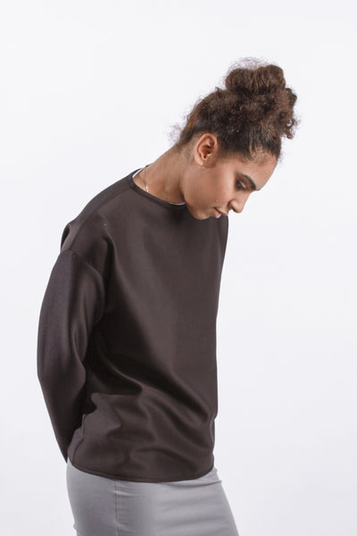 OVERSIZED DROP ARM JUMPER // BLACK