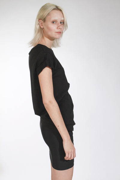 BLACK UNISEX DROP ARM TOP