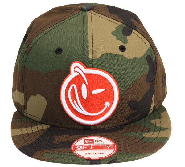 YUMS 'Classic' Snapback Woodland Camo/Orange