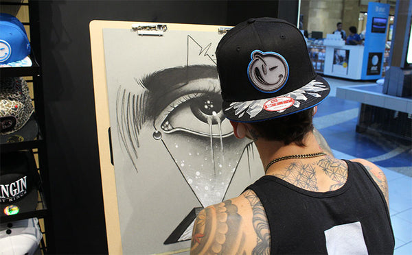Zack Singer Charcoal Demonstration at LIDS in Dallas, TX